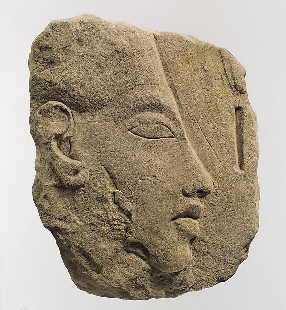 Trial piece of Akhenaten, on the reverse a horse's head