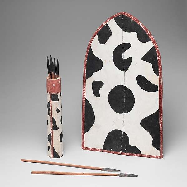 Model Shield, Spear Case, and Spears