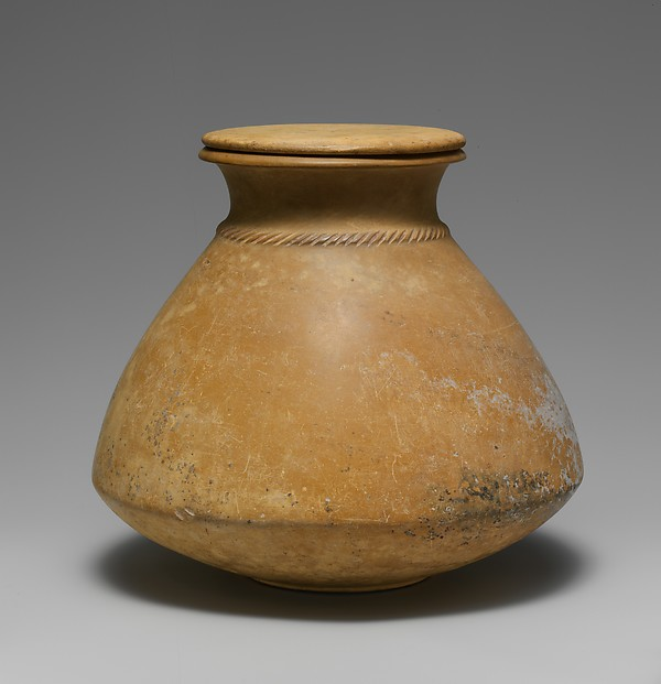 Carinated Stone Jar with Rope Pattern