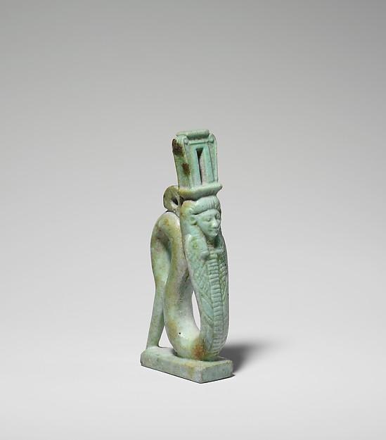 Human-headed snake amulet