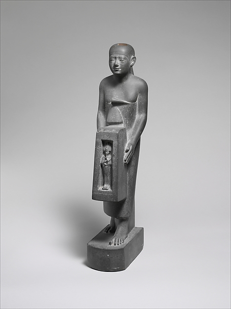 Man Holding a Shrine Containing an Image of Osiris
