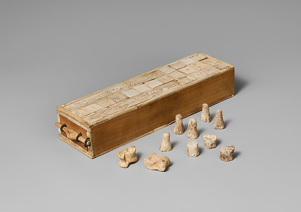 Game Box for Playing Senet and Twenty Squares