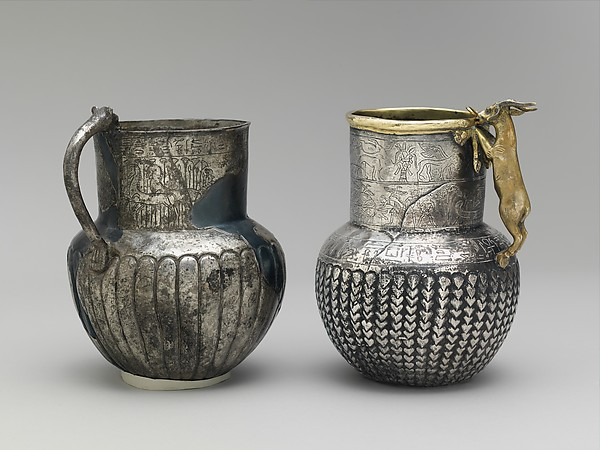 Decorated Jug with Feline-Head Handle