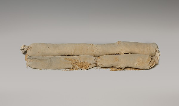 Cylindrical bag of sawdust from Tutankhamun's Embalming Cache