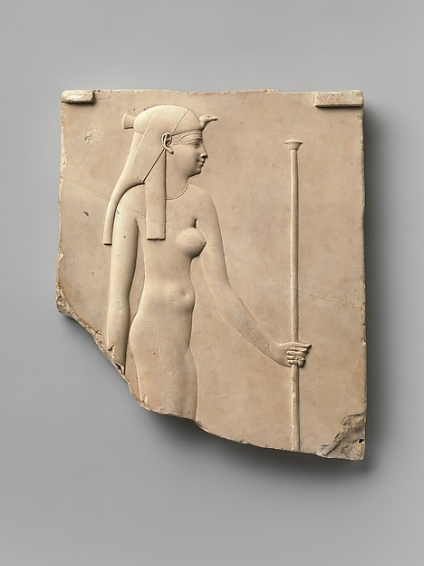 Plaque depicting a goddess, king on opposite side