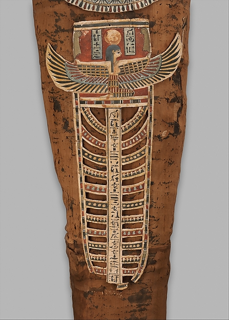 Mummy of Nesmin with mask and other cartonnages