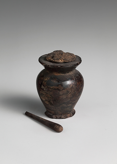Kohl Jar with a Cloth Stopper