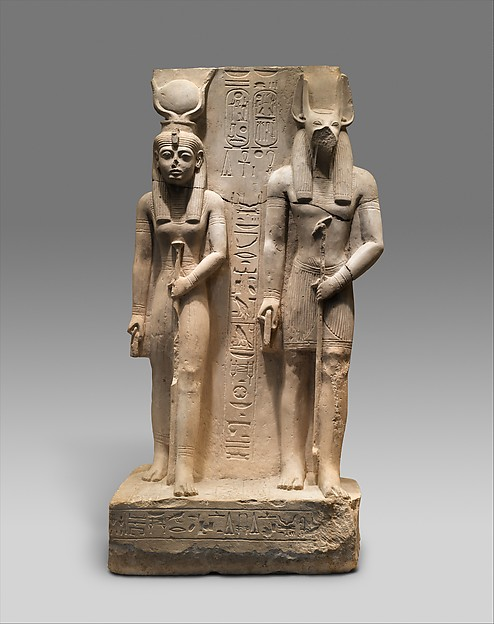 Isis and Wepwawet, god of Asyut,with the name of Siese,Overseer of the Two Granaries of Ramesses II