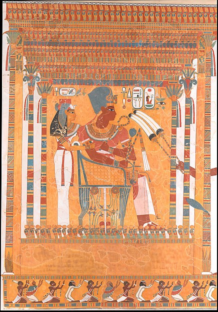 Amenhotep III and his Mother, Mutemwia, in a Kiosk
