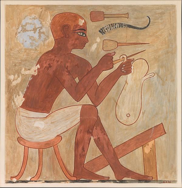 Sandal Maker, Tomb of Rekhmire