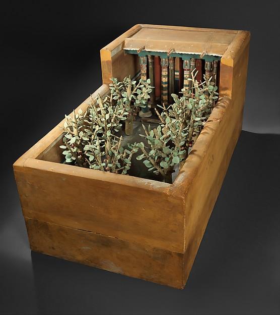 Model of a Porch and Garden