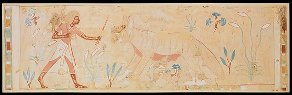 Man Confronting a Hyena, Tomb of Amenemhab