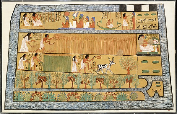Sennedjem and Iineferti in the Fields of Iaru, Tomb of Sennedjem