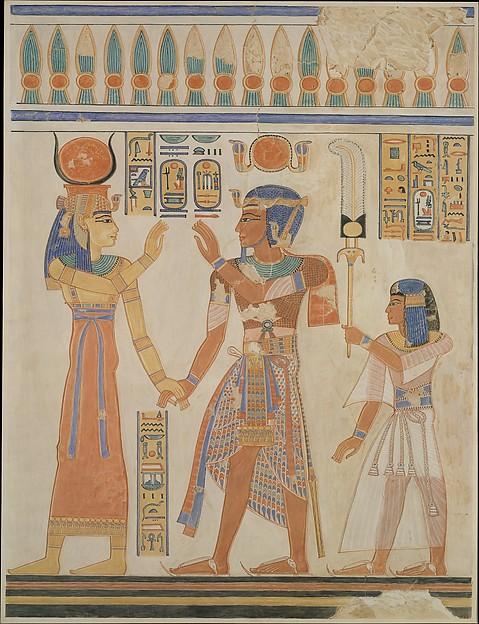 Ramesses III and Prince Amenherkhepeshef before Hathor, Tomb of Amenherkhepeshef