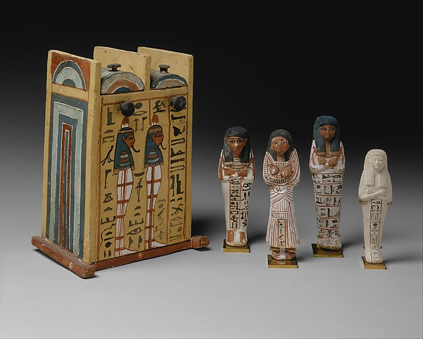 Shabti Box of Paramnekhu with Shabtis
