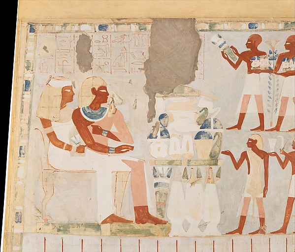 Nakht and his Wife Receiving Offerings, Tomb of Nakht