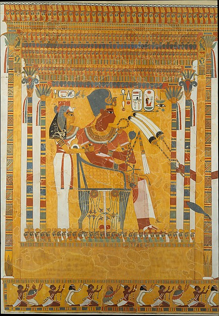 Amenhotep III and his Mother, Mutemwia in a Kiosk