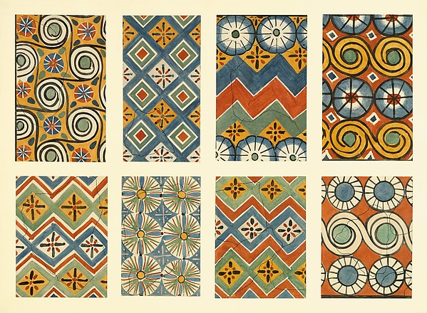 Eight Ceiling Patterns, Tomb of Nebamun and Ipuky