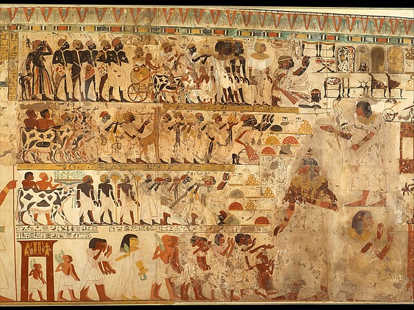 Nubian Tribute Presented to the King, Tomb of Huy