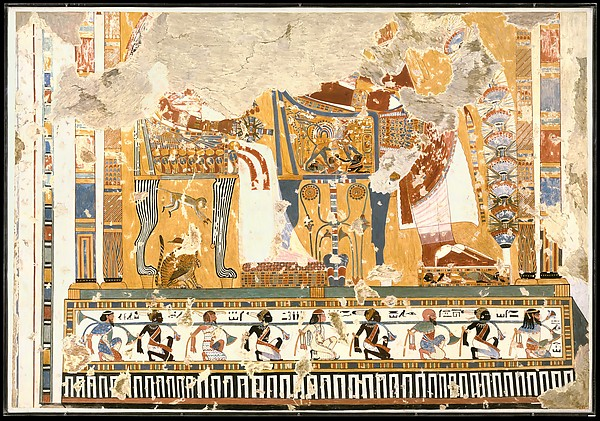 Amenhotep III and Queen Tiye Enthroned Beneath a Kiosk, Tomb of Anen