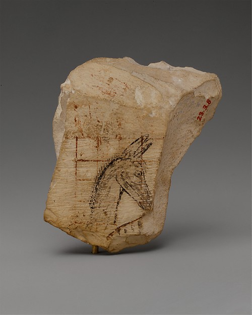 Ostracon with a donkey