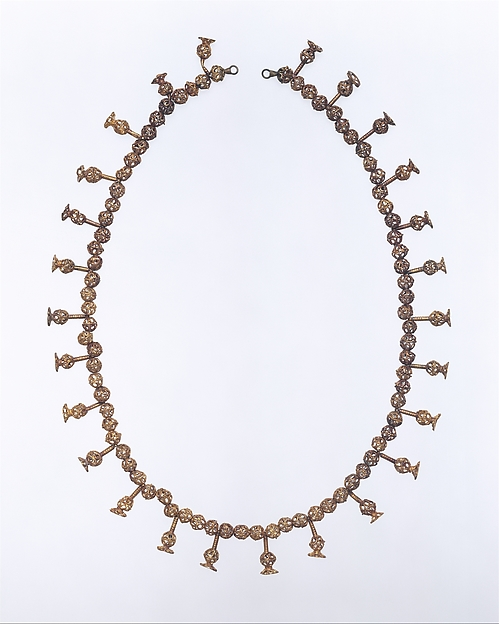 Necklace in Gold Filagree of Queen Tausret