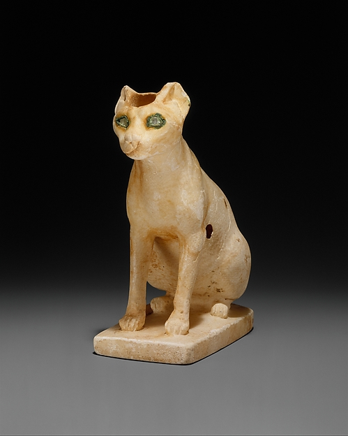Cosmetic Vessel in the Shape of a Cat