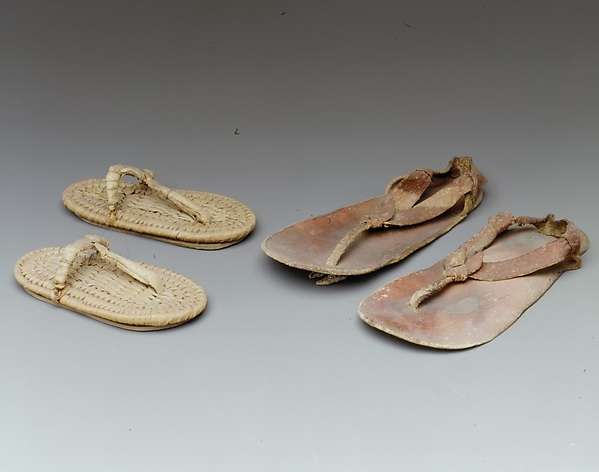 Pair of sandals from the Burial of Amenhotep