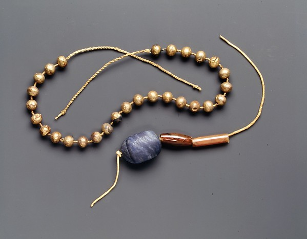 Necklace of Gold Ball Beads