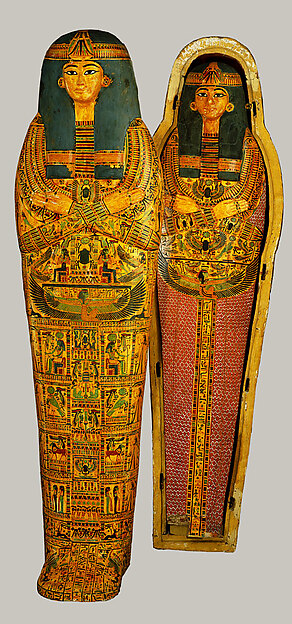 Coffin Set of the Singer of Amun-Re, Henettawy (F)