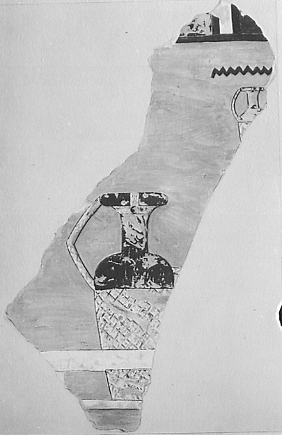 Facsimile painting of a jar from the Tomb of Meketre