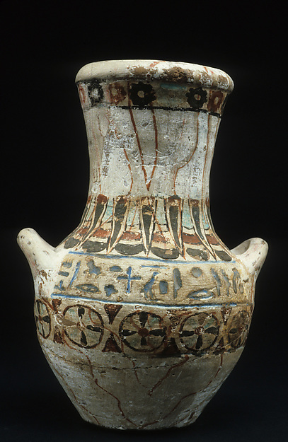 Two-handed pottery vase of Amenhotep