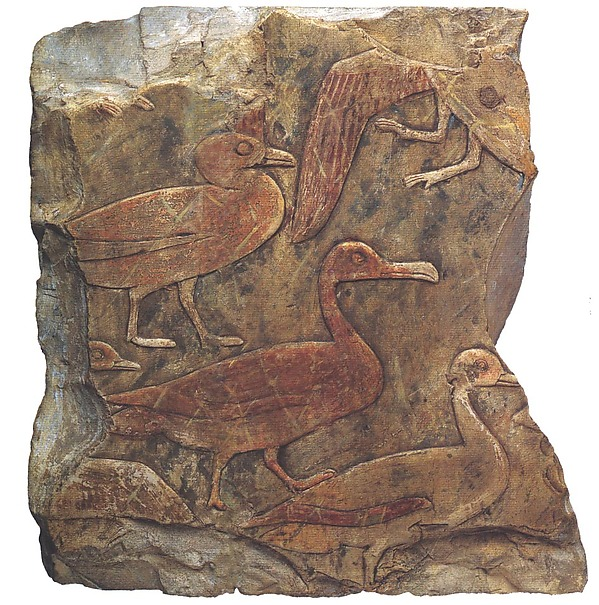 Relief Fragment Showing Waterfowl in a Clapnet