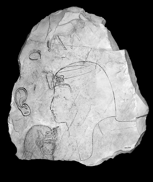 Ostracon With a Royal Head