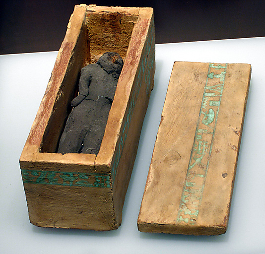 Miniature coffin of queen Neferu