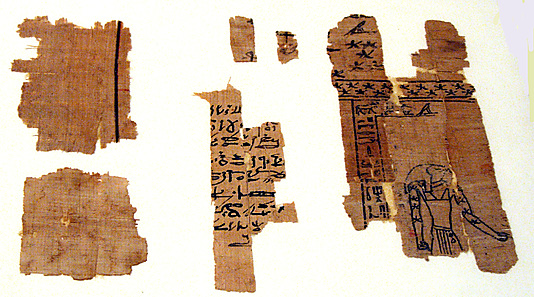 Astronomical papyrus fragments with a representation of the planet Saturn