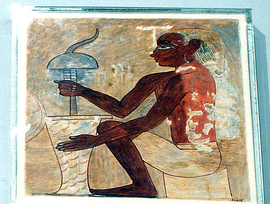 Drilling a Stone Vase, Tomb of Rekhmire