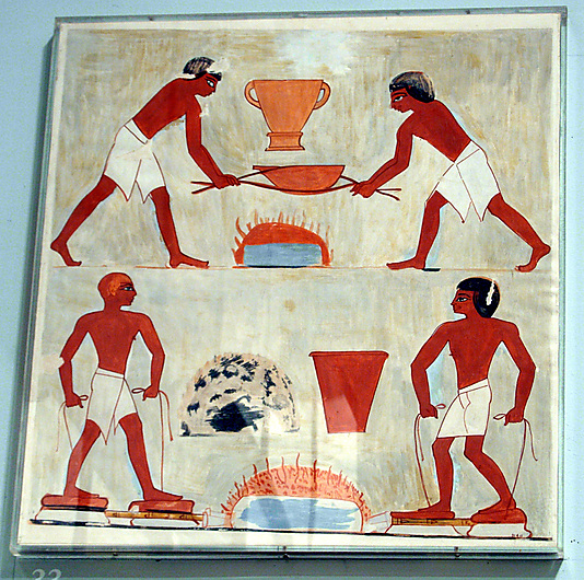 Scene of Metal Workers, Tomb of Rekhmire