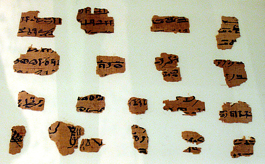 Papyrus fragments, Book of the Dead