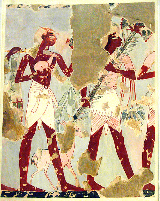 Men Bringing Offerings, Tomb of Qenamun