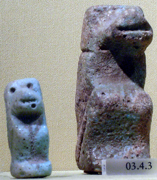 Statuette of seated baboon
