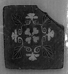 Inlay, floral square