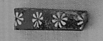Inlay fragment, bar, rosette row