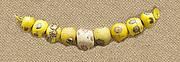 String of 9 Eyed Beads