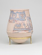 Blue-painted Jar from Malqata with Hathor Emblem
