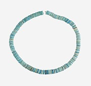 String of Large Flat Disk Beads