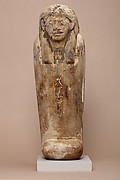 Anthropoid-coffin-form canopic container inscribed with the name of Duamutef