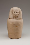 Canopic Jar Representing the Deity Imsety
