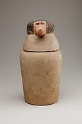 Canopic Jar Representing the Deity Hapy