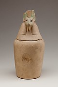 Canopic Jar Representing the Deity Duamutef